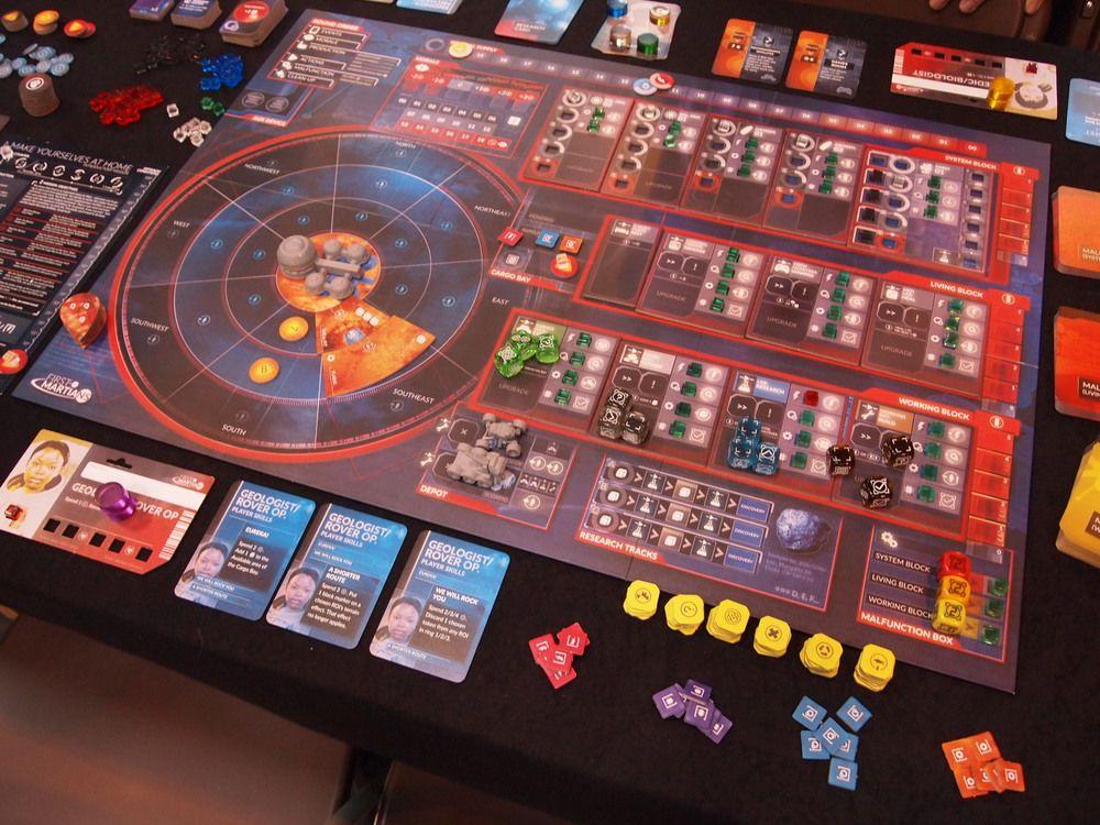 First Martians board