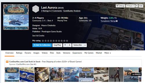 Last Aurora | EN Pendragon Game Studio